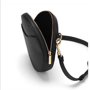 Cuyana Bags - Cuyana black mini circle belt bag